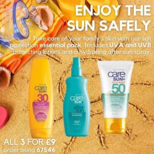 sun lotion and cream from Avon