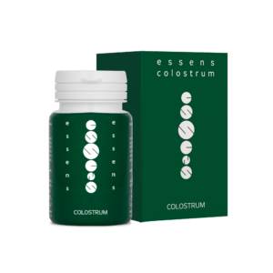 essens colostrum supplements with box